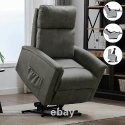 Power Lift Chair Recliner Contemporary Living Room Lounge Sofa Fabric Arm Chair