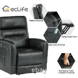 Power Lift Chair Recliner Heat Massage For Elderly Upgraded Motorized Sofa Black