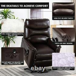 Power Lift Chair Recliner Sofa Upgrade Motor PU Leather Padded Seat Living Room