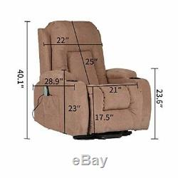 Power Lift Electric Recliner Chair Fabric Sofa Lounge Living Room Elderly Chair