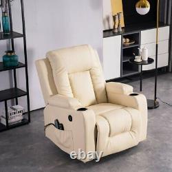 Power Lift Massage Chair Zero Gravity 8 Point Reclining Sofa Elderly Heat Lounge