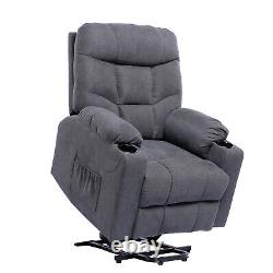 Power Lift Massage Heated Recliner Chair for Elderly Cup Holders/Remote Control