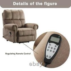 Power Lift Massage Recliner Chair Heat & Vibration Oversize Theater Lounge Chair