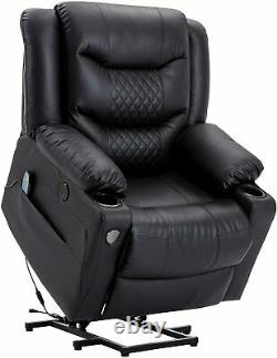 Power Lift Massage Recliner Chair WithHeat Vibration Function Elderly Lounge Sofa