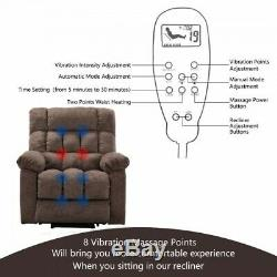 Power Lift Massage Recliner Chair With Heat Vibration Home Theater Lounge Chair