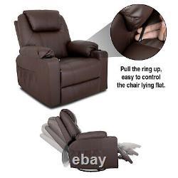 Power Lift Massage Recliner Sofa Electric Chairs Vibration Remote Control Rocker