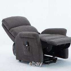 Power Lift Recliner Breathable Yarn-dyed Fabric Lift Recliner Modern Sofa Chair