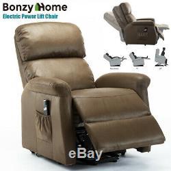 Power Lift Recliner Chair Armchair Recliner Sofa Lifting Lounge For Elderly