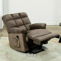 Power Lift Recliner Chair Electric Elderly Fabric Sofa Padded Seat Living Room