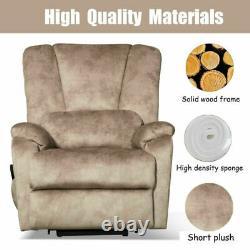 Power Lift Recliner Chair Fabric Heavy Duty Reclining Padded Lounge Sofa Elderly