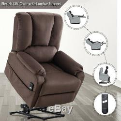Power Lift Recliner Chair Fabric Lounge Sofa withRemote for Elderly Stand Assist