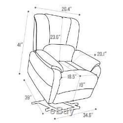 Power Lift Recliner Chair For Elderly Antiskid Fabric Living Room Sofa Camel