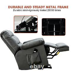 Power Lift Recliner Chair For Elderly Heavy Duty Safety Motion Overstuffed Sofa