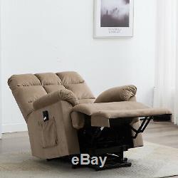 Power Lift Recliner Chair For Elderly Overstuffed Armchair Living Room Sofa WithRC