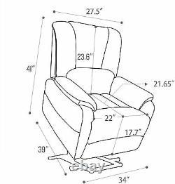 Power Lift Recliner Chair For Elderly Overstuffed Reclining Sofa Help Stand