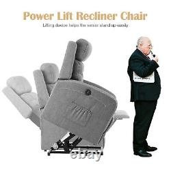 Power Lift Recliner Chair Heat Massage For Elderly Upgraded Motorized Sofa PU