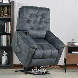 Power Lift Recliner Chair Lazy Boy Sofa for Elderly, Heavy-Duty Fuction with Re
