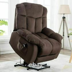 Power Lift Recliner Chair Overstuffed Bedroom Elderly Lounge Sofa WithRemote