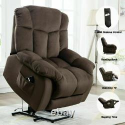 Power Lift Recliner Chair Overstuffed Bedroom Elderly Lounge Sofa seat WithRemote