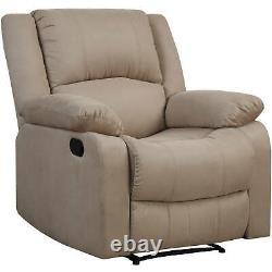Power Lift Recliner Chair Overstuffed Reclining Fabric Lounge Sofa For Elderly