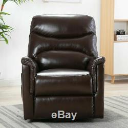 Power Lift Recliner Chair Overstuffed Seat Backrest PU Leather Sofa for Elderly