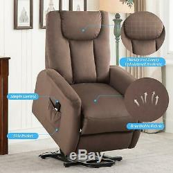 Power Lift Recliner Chair Overstuffed Single Sofa Padded Seat Chair for Elderly