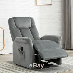 Power Lift Recliner Chair Overstuffed Sofa Chaise Lounge Cushion Seat for Elder