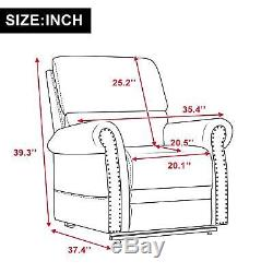 Power Lift Recliner Chair PU Leather Heavy Duty Reclining Mechanism Living Room