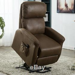 Power Lift Recliner Chair Padded Sofa Lifting Lounge ArmChair Lounge For Elderly