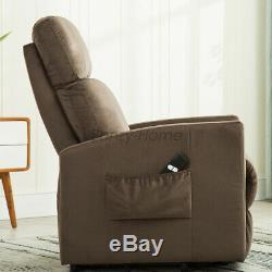 Power Lift Recliner Chair Seat Reclining Assist Elderly Armchair Chaise Lounge