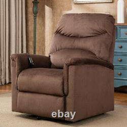 Power Lift Recliner Chair Sofa Living Room Soft Padded Seat Armchair Comfy Brown