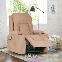 Power Lift Recliner Chair Sofa Lounge For Elderly Heavy Duty Fabric Living Room