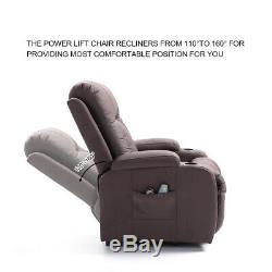 Power Lift Recliner Chair Sofa Lounge For Elderly Heavy Duty Living Room Brown