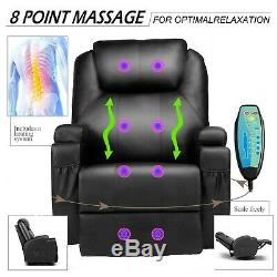Power Lift Recliner Chair Sofa Soft Padded Seat Massage Armrest Living Room