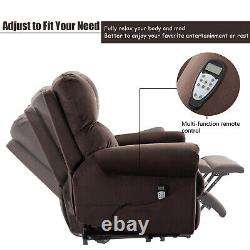 Power Lift Recliner Chair With Heat & Massage For Elderly Oversize Lounge Sofa