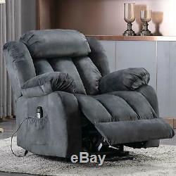 Power Lift Recliner Chair With Massage Heat Vibration Elderly Reclining Chair