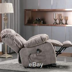 Power Lift Recliner Chair With Massage Heat Vibration Elderly Reclining Sofa