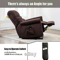 Power Lift Recliner Chair for Elderly Antiskid Fabric Overstuffed Back Arm Chair
