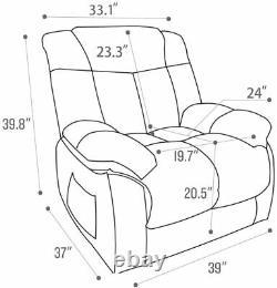 Power Lift Recliner Chair for Elderly Living Room Overstuffed Reclining Chair