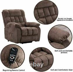 Power Lift Recliner Chair with Heat & Massage Elderly Overstuffed Reclining Sofa
