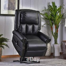 Power Lift Recliner Chair with Soft and Warm Fabric with Built-in Remote Control