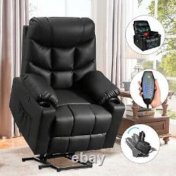 Power Lift Recliner Chair with Vibration Massage and Heat for Elderly Living Room