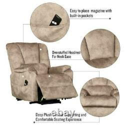 Power Lift Recliner Electric Chair Stand Assist Heavy Duty Reclining Sofa with RC