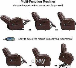 Power Lift Recliner Massage Chair WithHeat Vibration For Elderly Living Room Chair