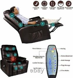 Power Lift Recliner Massage Chair WithHeat Vibration and USB Charge For Elderly