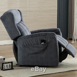Power Lift Recliner Overstuffed Arm Chair Soft Padded Lounge Sofa for Elderly