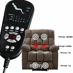 Power Lift Recliner for Elderly Overstuffed Massage Sofa with Heat and Vibration