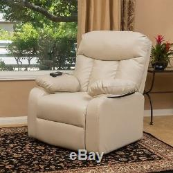 Power Lift Recliners Beige or Black Leather Arm Chair Armchair Chairs Recliner