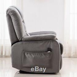 Power Lift and Recliner Soft Fabric Upholstery Recliner for Living Room Chair