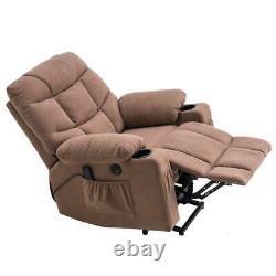 Power Massage Lift Recliner Chair Cup Holder Elderly Lounge Oversize Swivel Sofa